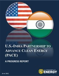 U.S.-India Partnership to Advance Clean Energy: A Progress Report