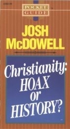 Christianity: HOAX OR HISTORY