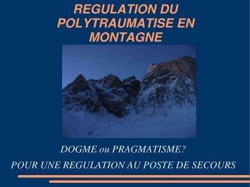 Régulation au poste de Secours, Dr P. Roche - Association ...