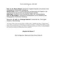 Prof. em. Dr. Werner Bleyhl, Lehrstuhl für englische Sprache und ...