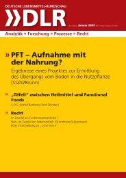Deutsche Lebensmittel-Rundschau 01/09 - Lebensmittelrecht