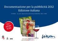 Documentazione per la pubblicità 2012 Edizione italiana - Vinum