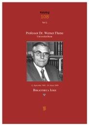 Professor Dr. Werner Flume - VICO Wissenschaftliches Antiquariat ...