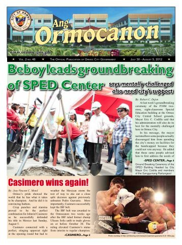 Beboy leads groundbreaking of SPED Center - City Government of ...