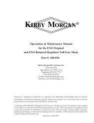 Kirby Morgan EXO-BR Mask Manual - Submarine Manufacturing ...