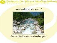 Willkommen bei der Professor Dr. Werner ... - Maassen-Stiftung