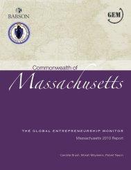 Global Entrepreneurship Monitor Massachusetts - Babson College