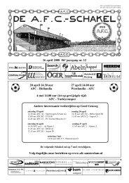 16 april 2008 86e jaargang nummer 12 - AFC, Amsterdam