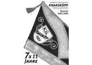 7x 11 Jahre - KG Knaasköpp 1929