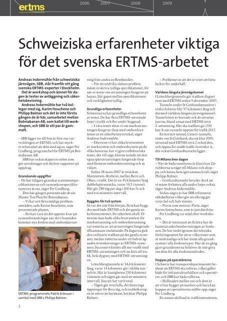 ERTMS på ITS-mässan - Banportalen