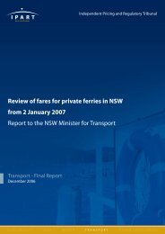 Review of fares for private ferries in NSW from 2 January 2007