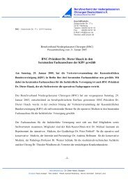 BNC-Präsident Dr. Dieter Haack in den beratenden