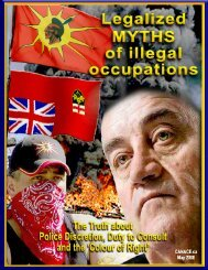 Legalized MYTHS of Illegal Occupations - Caledonia Wake Up Call