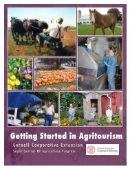 Getting Started in Agritourism - Cornell Cooperative Extension of ...