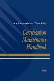 Certification Maintenance Handbook - American Association of ...