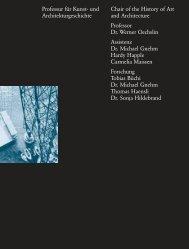 Professur für Kunst- und Architekturgeschichte Chair of the History of ...
