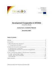 TRIALOG Country study on development cooperation in Estonia