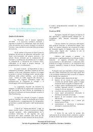 S.PR.I.G. Sistema per la PRogrammazione Integrata e il Governo ...