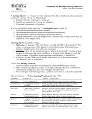 Guidelines for Writing Learning Objectives A learning objective is a ...