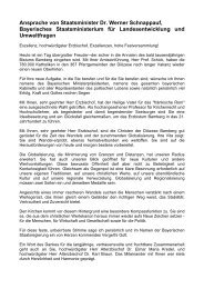 Ansprache von Staatsminister Dr. Werner Schnappauf, Bayerisches ...