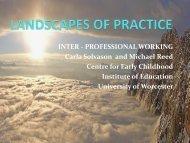 LANDSCAPES OF PRACTICE - University of Worcester