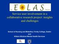 Service user involvement in a collaborative research project ... - Genio