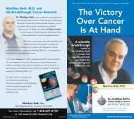 The Victory Over Cancer Is At Hand - the Dr. Rath Health Foundation!