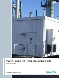 Power equipment center application guide - Siemens