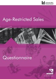 Questionnaire Age-Restricted Sales