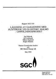 läggning av gasledning med plöjteknik vid glostorp, malmö - SGC