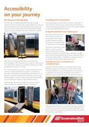 Queensland Rail Travel - Accessibility - On your journey factsheet