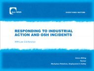 responding to industrial action and osh incidents - DLA Piper WIN