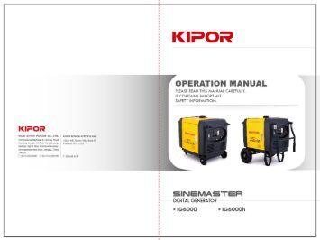 Kipor 3000 Service manual