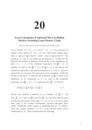 Exact Calculation of Optimal Filters in Hidden Markov Switching ...