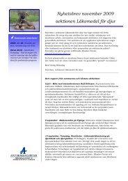 Medlemsbrev, november 2009 - Apotekarsocieteten