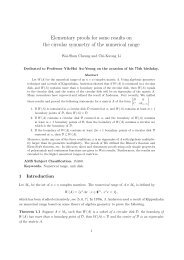 Elementary proofs for some results on the circular symmetry of the ...
