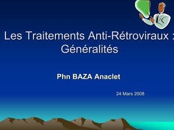 Les Traitements Anti-Rétroviraux : Généralités - ReMeD