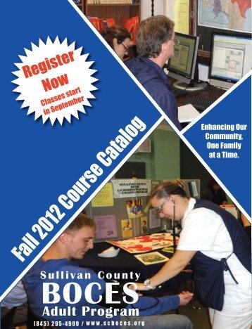 Fall 2012 Course Catalog - Sullivan County BOCES