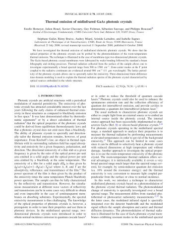 Thermal emission of midinfrared GaAs photonic crystals