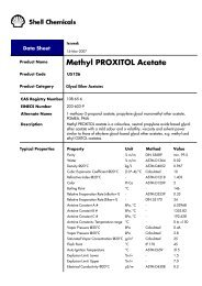 Methyl PROXITOL acetate - Asia Pacific