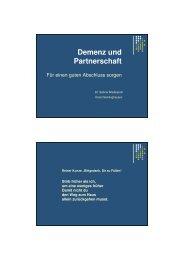 Vortrag Dr. Sabine Wadenpohl - End-Of-Life-Care