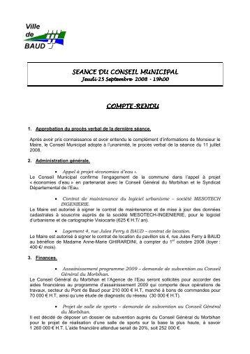 Afficher le compte rendu - Mairie de Baud