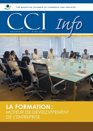 LA FORMATION : - The Mauritius Chamber of Commerce and Industry