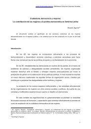 Ciudadanía, democracia y mujeres - RED-Perú