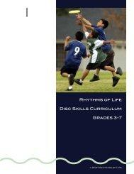 Rhythms of Life Disc Skills Curriculum Grades 3-7 - USA Ultimate
