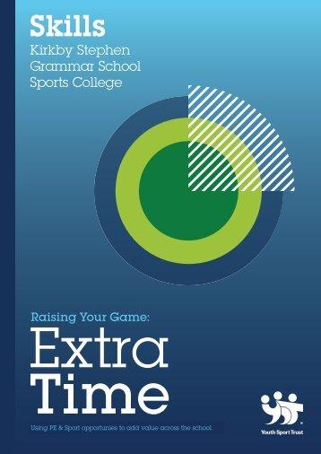 Kirkby Stephen Grammar School Sports College ... - Youth Sport Trust