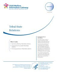 Tribal-State Relations - National Child Welfare Resource Center for ...