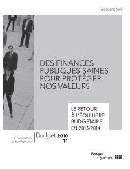 LE RETOUR À L'ÉQUILIBRE BUDGÉTAIRE EN 2013-2014 - Finances