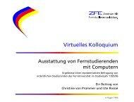 Virtuelles Kolloquium - FernUniversität in Hagen