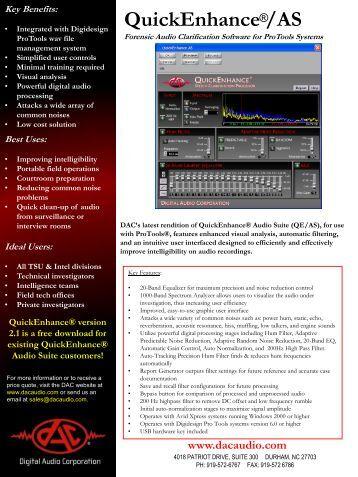 QuickEnhance /AS - Digital Audio Corporation